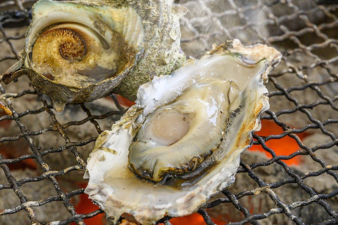 小屋 糸島 牡蠣